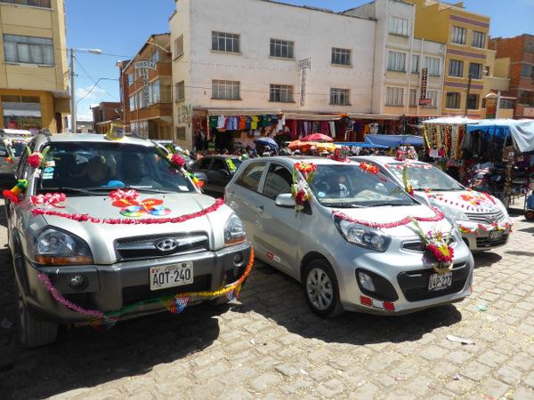 Bolivia Copacabana Virgin Car