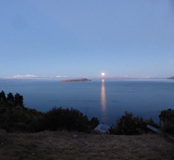 Bolivia Isla del Sol Super Moon