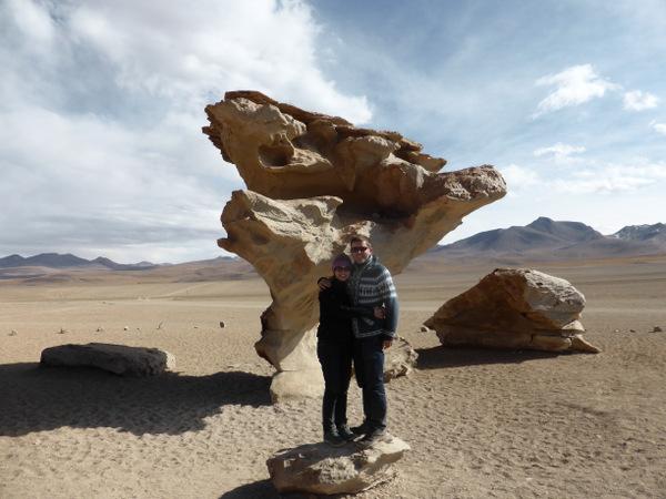 Bolivia Uyuni Rock Tree
