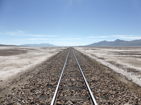 Bolivia Uyuni Salt Flats Train