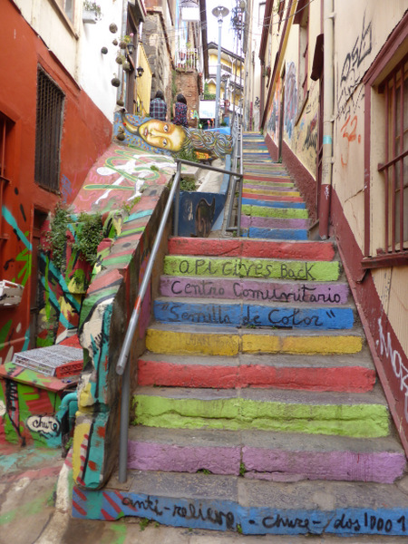 Chile Valparaiso Stairs