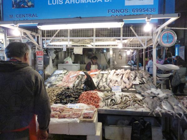 Chile Santiago Market
